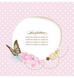 Cute baby shower invitation scrapbook template vector image