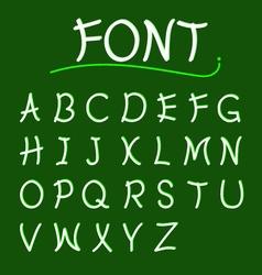 font abcs modern design vector image vector image