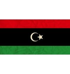 Libya paper flag vector
