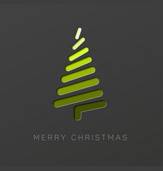 modern christmas tree made from lines vector image