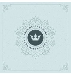 Royal Logo Design Template Decoration vector image vector image