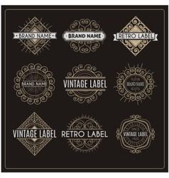Vintage retro label vector