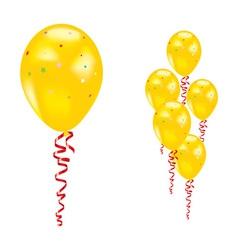 yellow party balloon vector image vector image