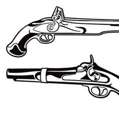 antique pistols vector image vector image