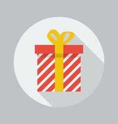 Christmas Flat Icon Gift box vector image vector image