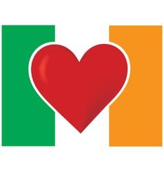 heart irish flag vector image vector image