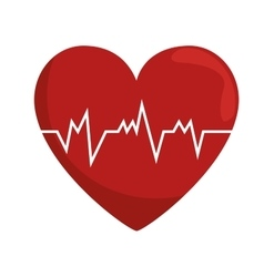 heart rate pulse concept healthy vector image