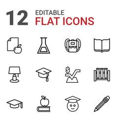 12 study icons vector