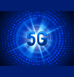 5g technology concept background vector