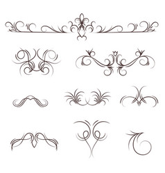 a collection decorative monograms and a vector image