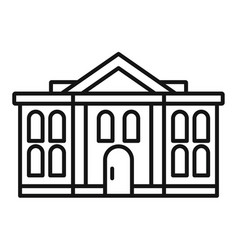 administrative courthouse icon outline style vector image