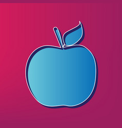 apple sign blue 3d printed vector image