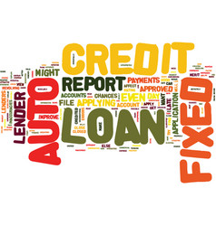 Auto loan and fixed auto loan text background vector