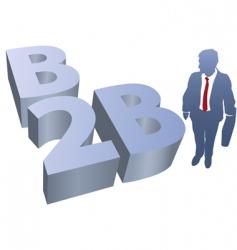 B2b business man ecommerce vector
