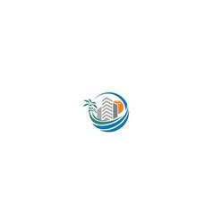 beach apartment logo icon vector image