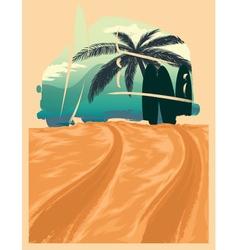 Beach van journey vector