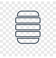 beehive concept linear icon isolated on vector image