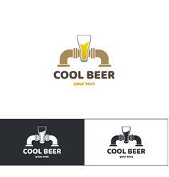 beer logo five vector image