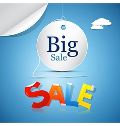 Big Sale on Blue Sky Background with Clouds vector image
