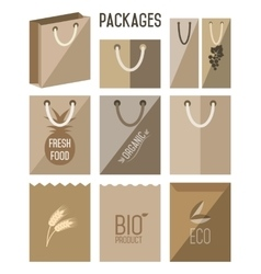 Bio pack eco pack icon vector