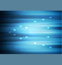 blue abstract technology background with arrows vector image