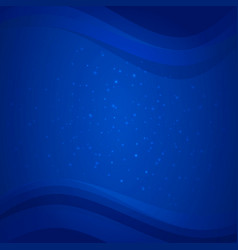Blue deep sea background with water waves vector