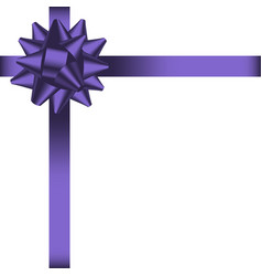 bow with ribbon 2 vector image