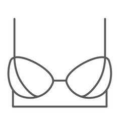 bra thin line icon female and underwear lingerie vector image
