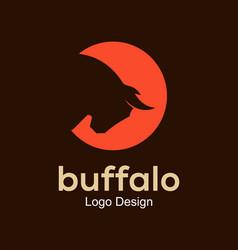 Buffalo logo design vector