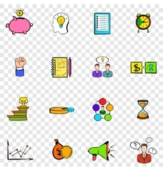 Business planning set icons vector