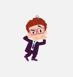 businessman with glasses something sick and dizzy vector image