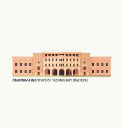 california institute of technology vector image