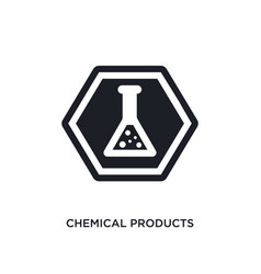 Chemical products isolated icon simple element vector