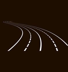 curved road gray colors vector image