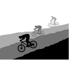 cyclists group 03 vector image