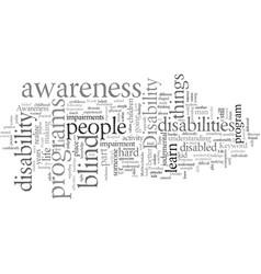 disability awareness vector image
