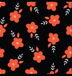 Ditsy floral seamless pattern design vector