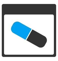 Drugs Capsule Calendar Page Toolbar Icon vector
