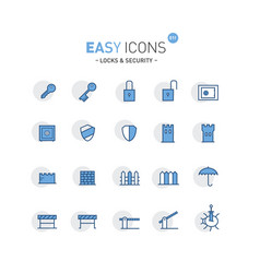 Easy icons 01f security vector