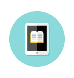 Ebook Flat Circle Icon vector