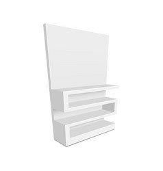 exhibition shelves for supermarket vector image