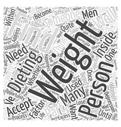 Finding the Beauty Within While Dieting Word Cloud vector