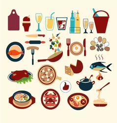 food icon set 38 vector image