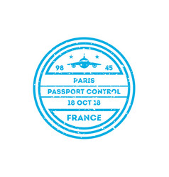 France country visa stamp on passport vector