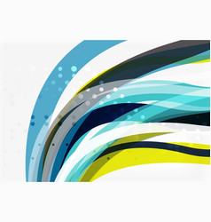 geometric flowing lines abstract background vector image
