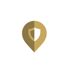 geotag with shield or location pin logo icon vector image