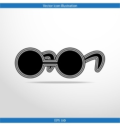 Glasses web flat icon vector