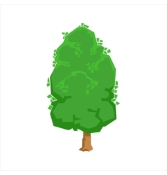 Green oak tree woods natural landscape design vector