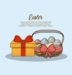 Happy easter day design vector