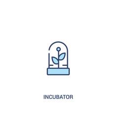 incubator concept 2 colored icon simple line vector image